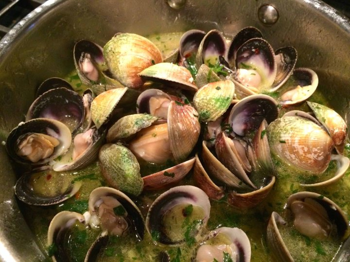 Clams just opened