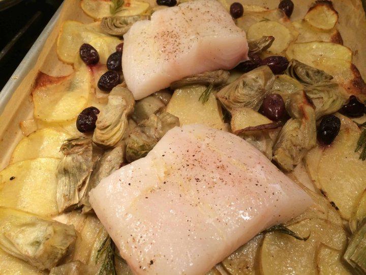 Fish before roasting