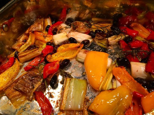 The finished vegetables
