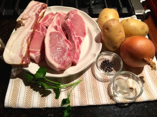The chops and other ingredients