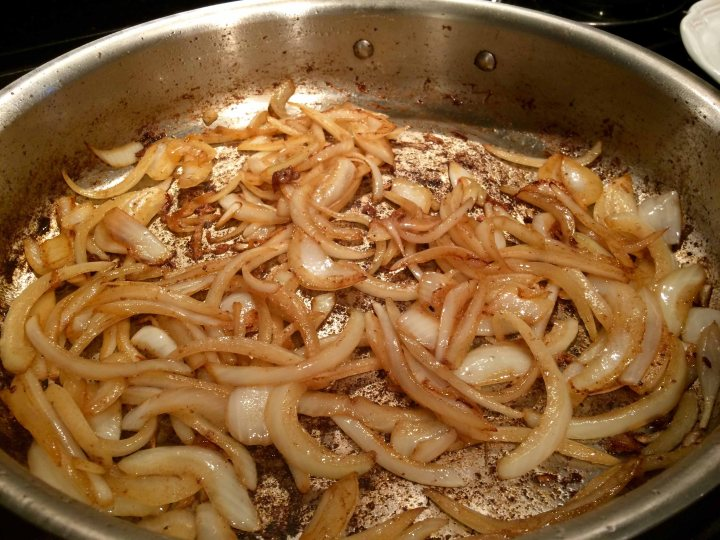 Browning onions and garlic